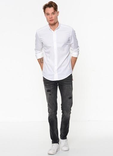 Slim Fit Uzun Kollu Gömlek-Phazz Brand